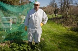 Leigh Court beekeeper
